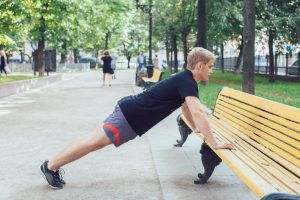 Plank off bench