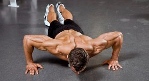 Pushups with wide arms